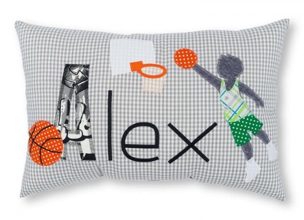 Namenskissen / Basketballer (Modell: Alex)