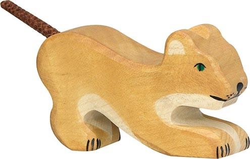 HOLZTIGER Löwe klein, spielend
