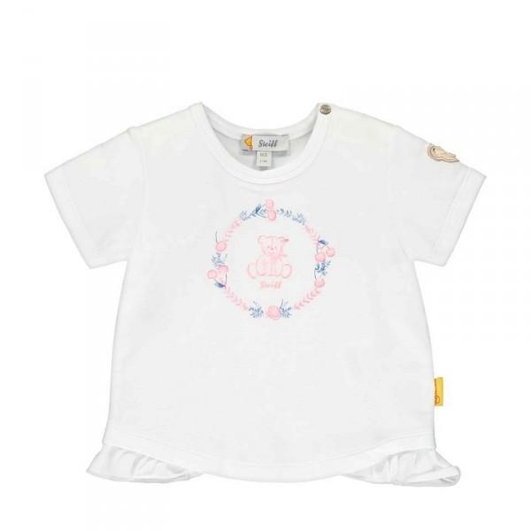 T-Shirt mit seitlichen Rüscheneinsätzen