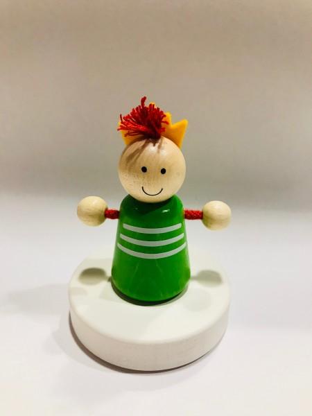 Geburtstagskranz Steckfigur Prinz, grün
