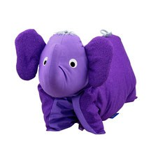 Kuscheltier / Kissen Elefant lila