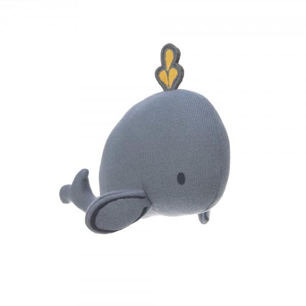 Kuscheltier mit Rassel und Knisterpapier, Little Water Whale