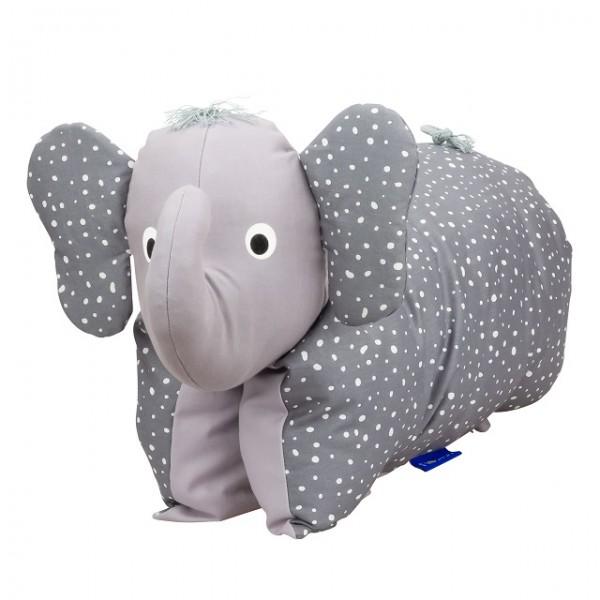Kuscheltier / Kissen Elefant Grau Dots