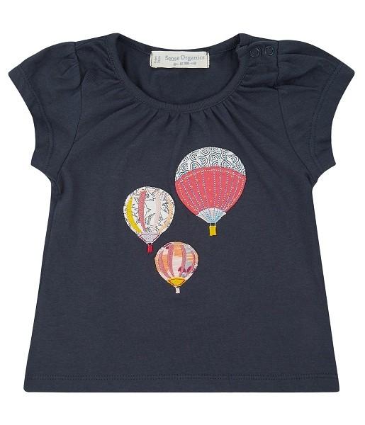 Baby T-Shirt mit Heißluftballon-Applikation GADA