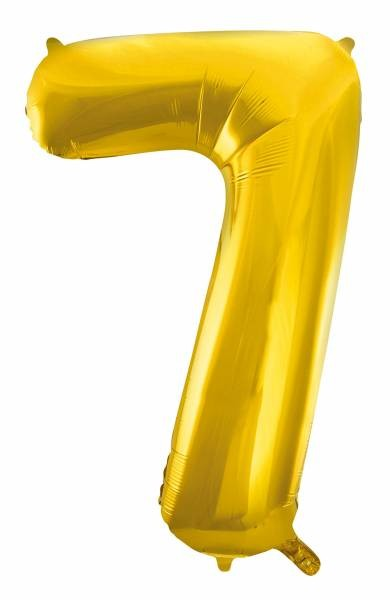 "Folienballon Zahl ""7"" ca.100 cm, Gold"