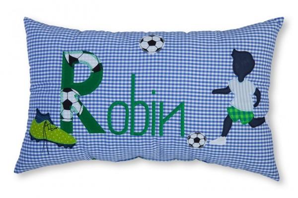 Namenskissen / Fußball (Modell: Robin)