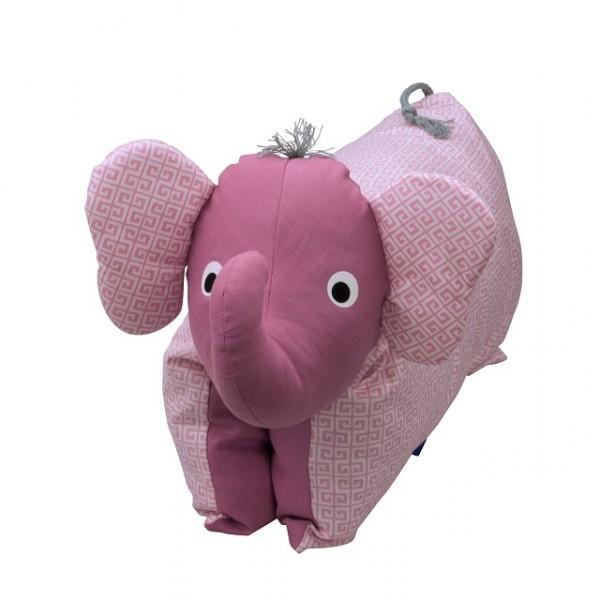 Kuscheltier / Kissen Elefant rosé