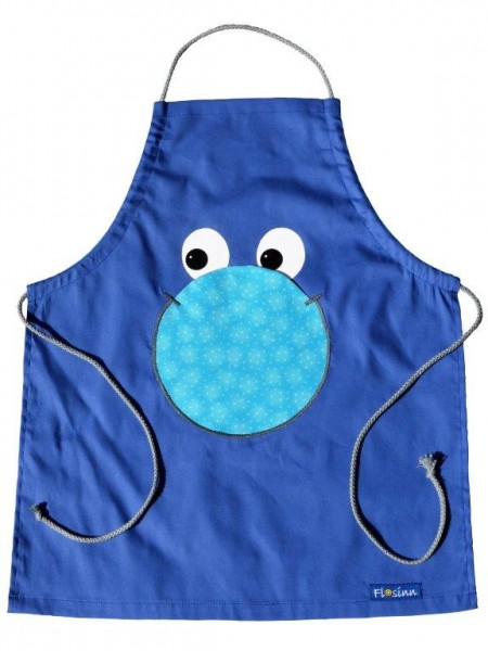 Kinderschürze blau