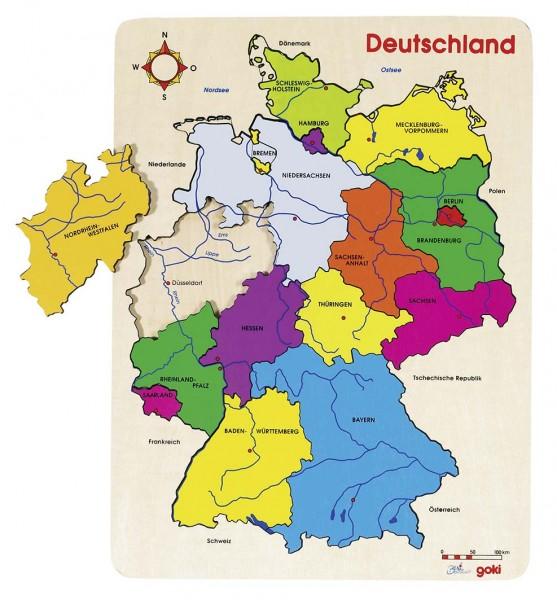 Einlegepuzzle Deutschland II