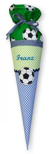 Geschwister-Schultüte mit oder ohne Namen / Fußball (Modell: Franz)