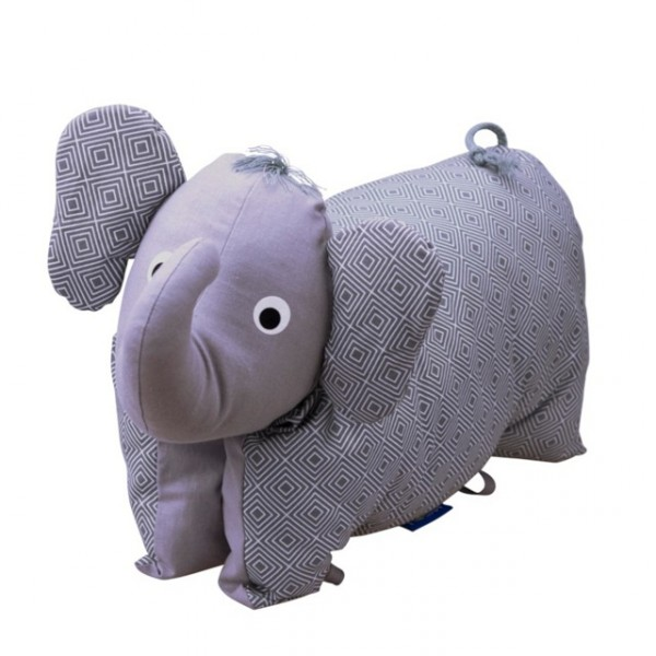 Kuscheltier / Kissen Elefant grau