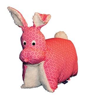 Kuscheltier / Kissen Hase pink-teddy