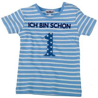 """T-Shirt """"Ich bin schon 1"""" hellblau/weiß"""