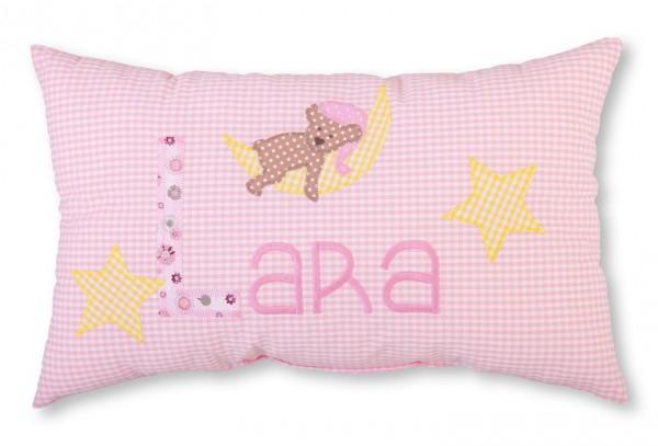 Namenskissen / kleiner Schlafbär (Modell: Lara)