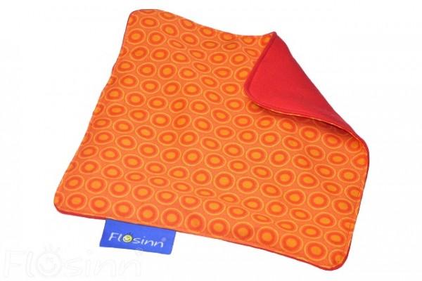 Knistertuch Orange-Rot