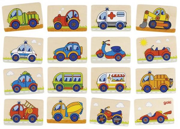 Memospiel Fahrzeuge