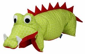 Kuscheltier / Kissen Krokodil grün-rot