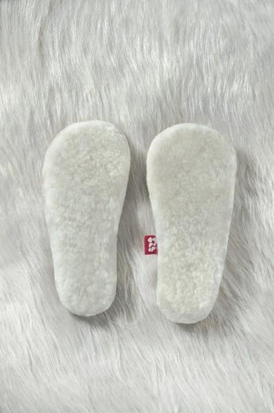 Wollfleece-Einlegesohlen für Haus- & Lauflernschuhe