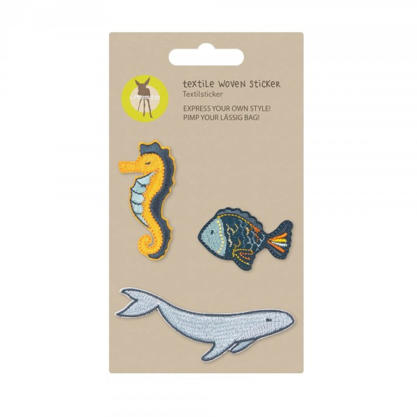 Textile Woven Sticker Sea