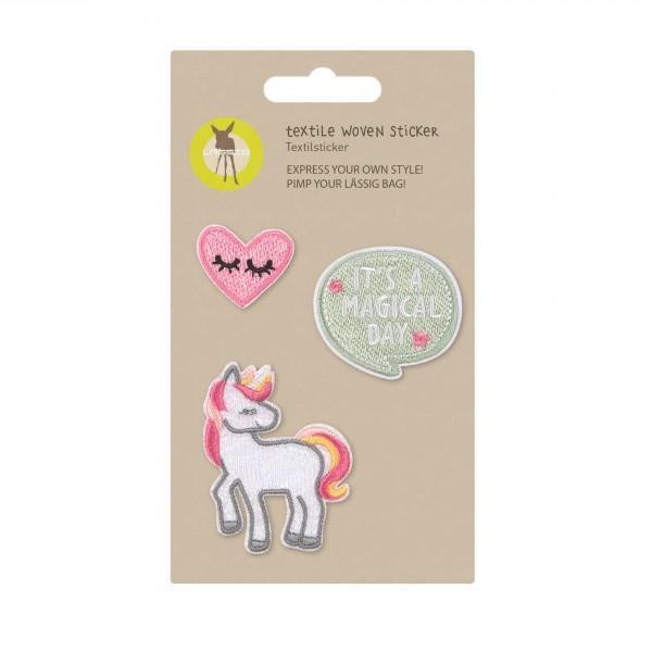 Textile Woven Sticker Unicorn