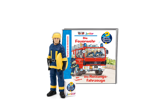 """Tonie """"Wieso, Weshalb, Warum junior - Feuerwehr / Rettungsfahrzeuge"""""""