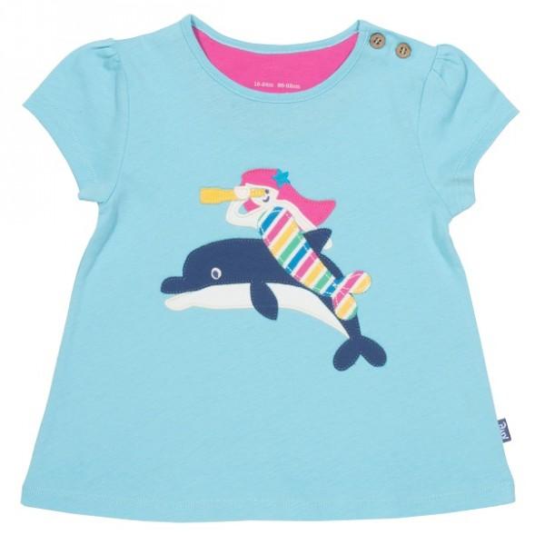 T-Shirt mit Meerjungfrau-Applikation