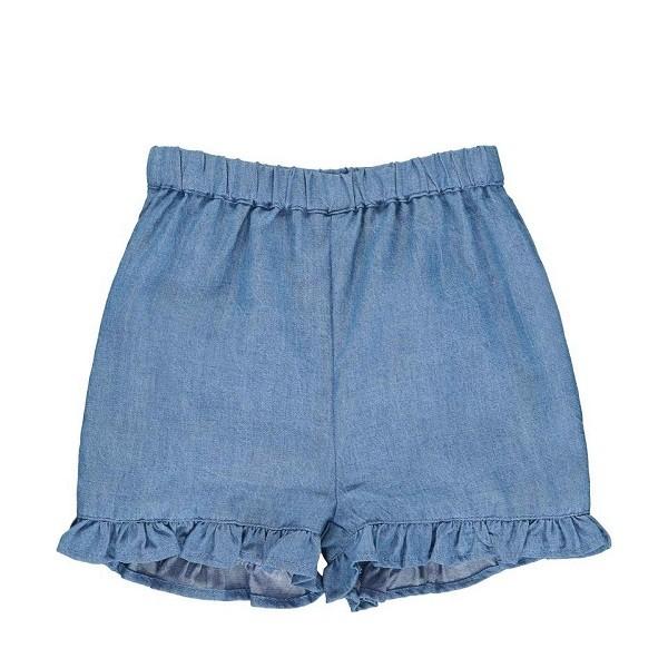 Jeans-Shorts mit Rüschenabschluss