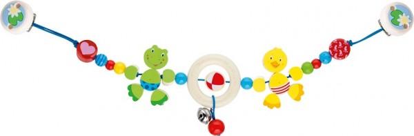 Kinderwagenkette Ente und Frosch