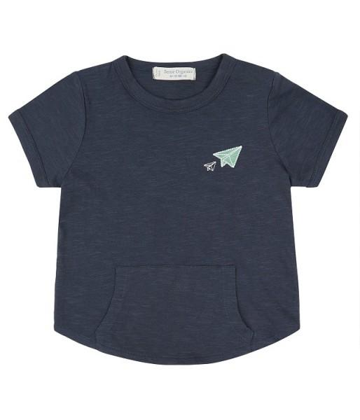T-Shirt mit Känguru-Tasche TAMO