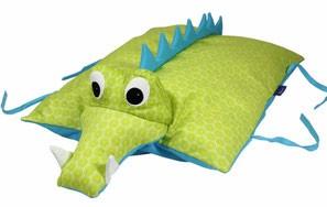 Kuscheltier / Kissen Krokodil grün-blau