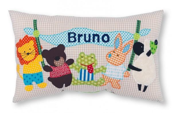 Namenskissen / Kleine Tierfreunde (Modell: Bruno)