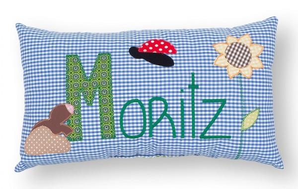 Namenskissen / Maulwurf (Modell: Moritz)