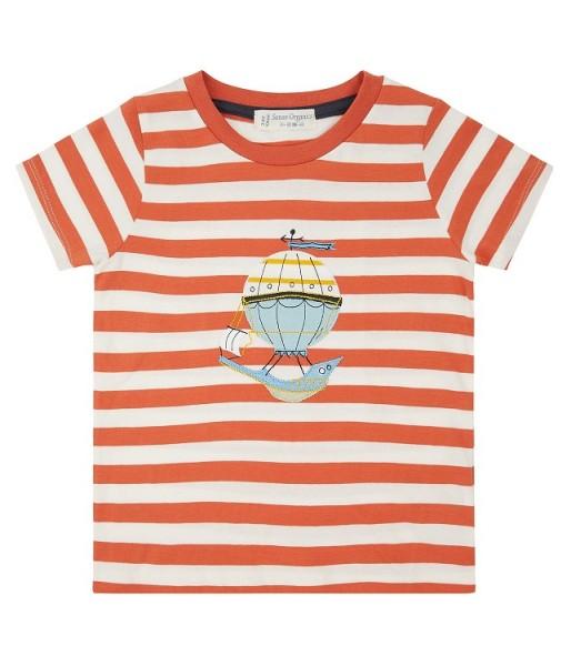 T-Shirt mit Heißluftballon-Applikation IBON