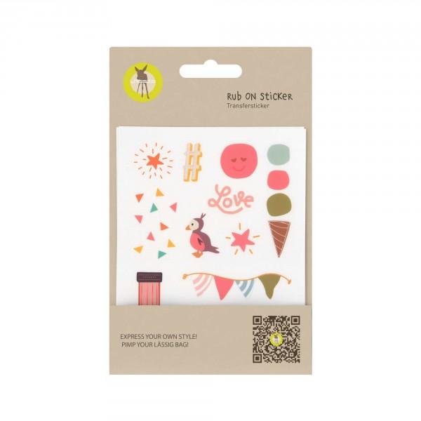 Sticker Rub On Happy