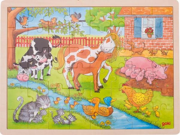 Einlegepuzzle Leben auf dem Bauernhof