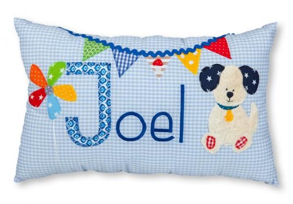 Namenskissen / Hund aus Teddyplüsch (Modell: Joel)