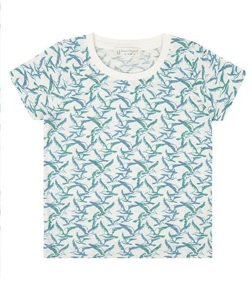T-Shirt mit Zugvögel-Print LIKO