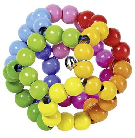 Greifling Elastik Regenbogenball