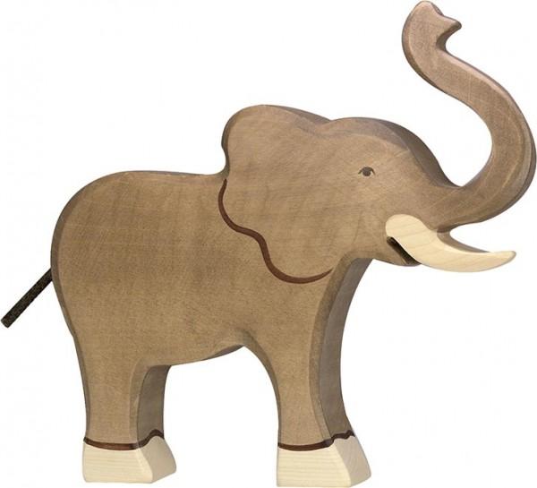 HOLZTIGER Elefant, Rüssel hoch