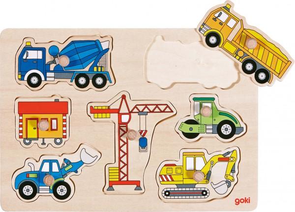 Steckpuzzle Baufahrzeuge