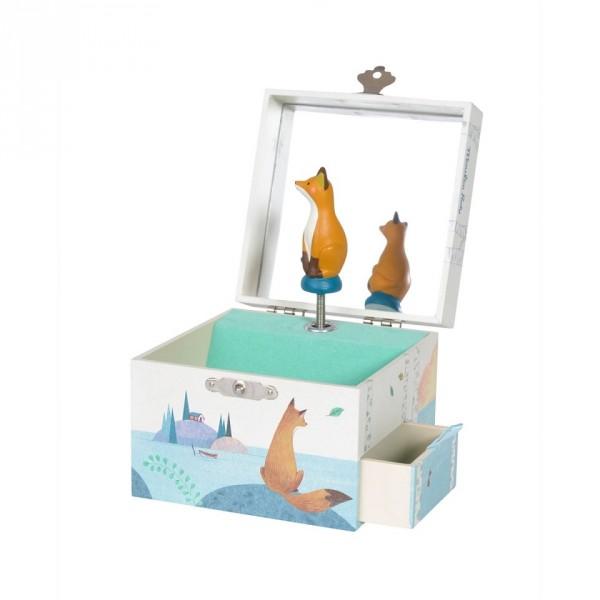 Schmuckkästchen mit Spieluhr Fuchs