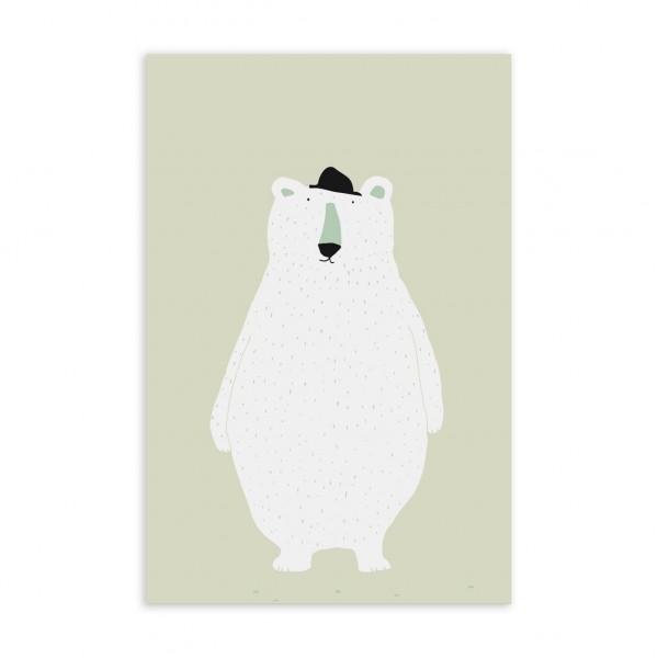 Postkarte/Glückwunschkarte I polar bear