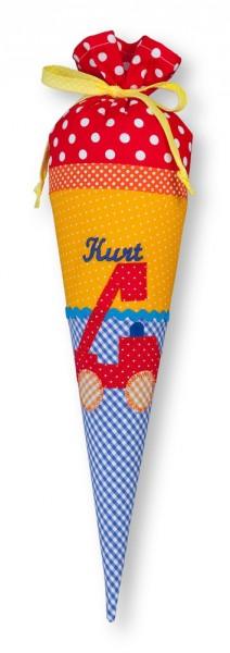 Geschwister-Schultüte mit oder ohne Namen / Feuerwehr (Modell: Kurt)