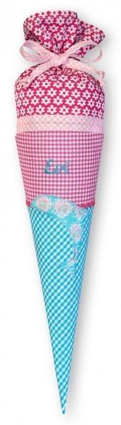 Geschwister-Schultüte mit oder ohne Namen / Delfin (Modell: Evi)
