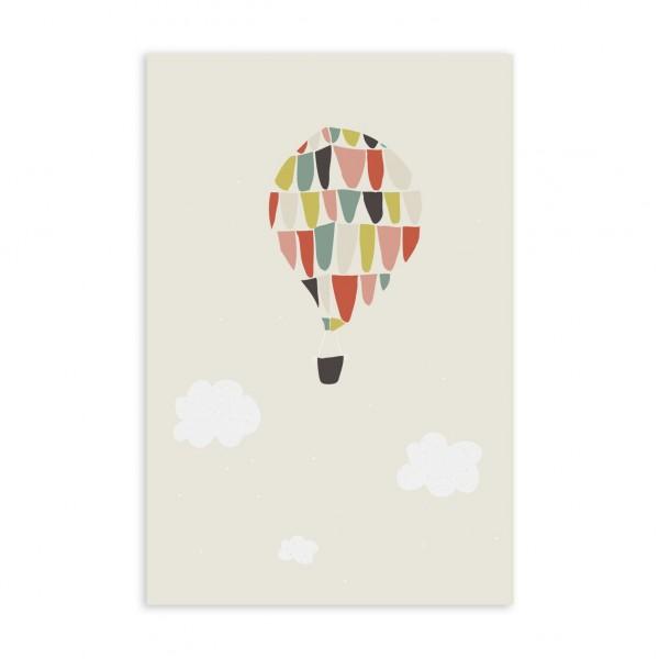 Postkarte/Glückwunschkarte I balloon