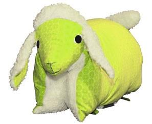 Kuscheltier / Kissen Lamm grün-teddy