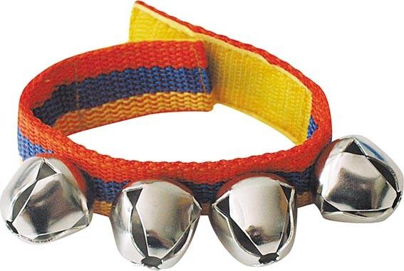 Schellenband für Arme und Beine mit 4 Glocken