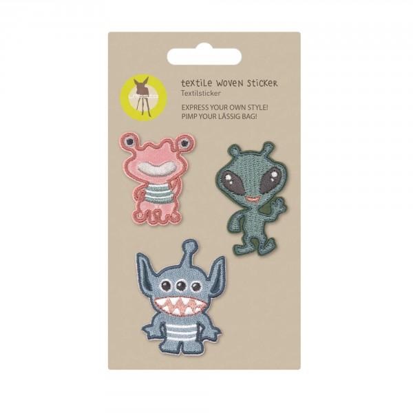Textile Woven Sticker Monster