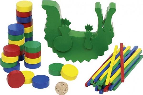 Stapel- und Balancierspiel Krokodil