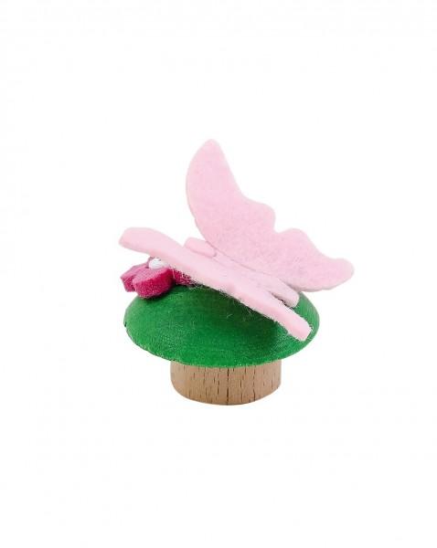 Geburtstagskranz Steckfigur Schmetterling rosa